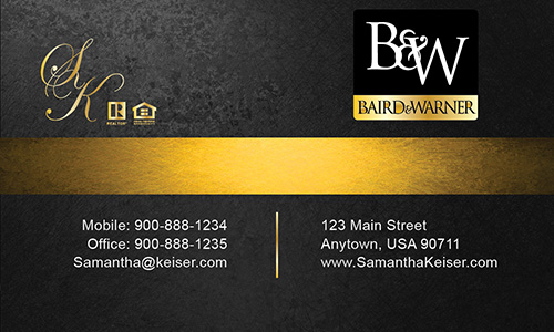 Black Baird Warner Business Card - Design #125041