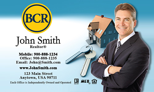 Blue BCR Realtors Business Card - Design #127011