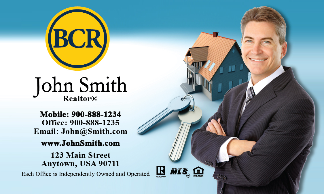 Blue bcr realtors business card design 127011 reheart Gallery