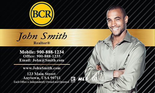 Black BCR Realtors Business Card - Design #127021