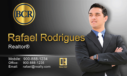 Black BCR Realtors Business Card - Design #127031