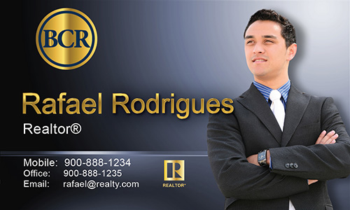 Blue BCR Realtors Business Card - Design #127032