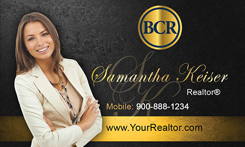 Black BCR Realtors Business Card - Design #127041