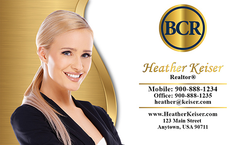 White BCR Realtors Business Card - Design #127051