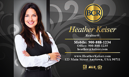 Black BCR Realtors Business Card - Design #127061