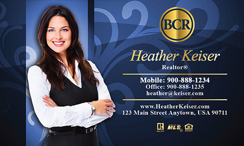 Blue BCR Realtors Business Card - Design #127062