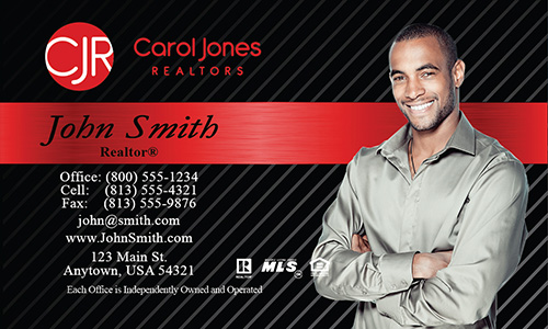 Black Carol Jones Realtors Business Card - Design #128021