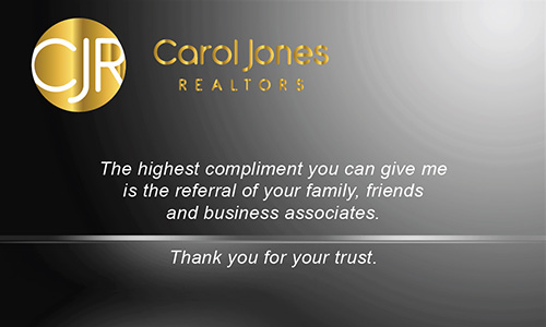 Gray Carol Jones Realtors Business Card - Design #128032