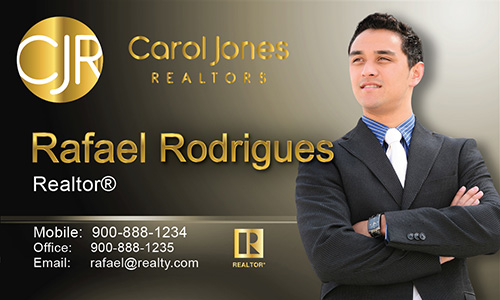 Brown Carol Jones Realtors Business Card - Design #128033