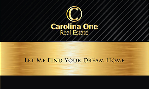 Black Carolina One Business Card - Design #129031