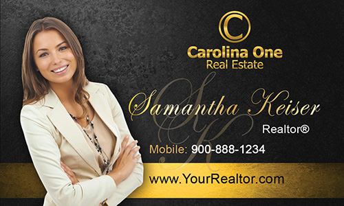 Black Carolina One Business Card - Design #129051