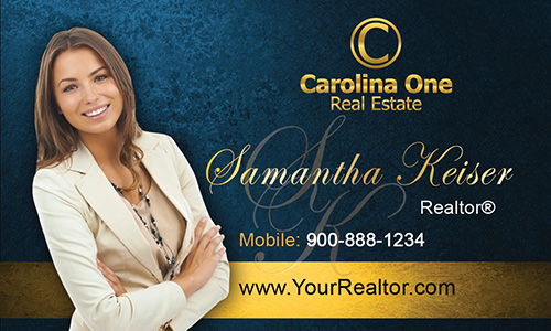 Blue Carolina One Business Card - Design #129053