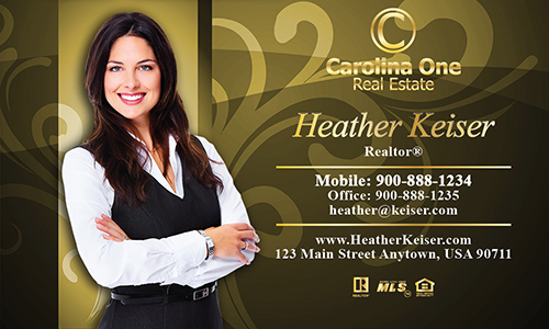 Yellow Carolina One Business Card - Design #129072