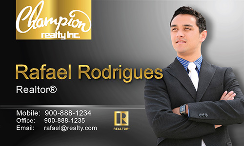 Black Champion Realty Business Card - Design #130031