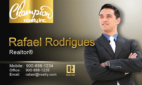 Brown Champion Realty Business Card - Design #130033