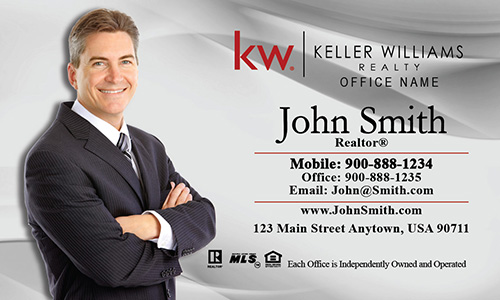 Keller Williams Agent Business Card Gray - Design #103012