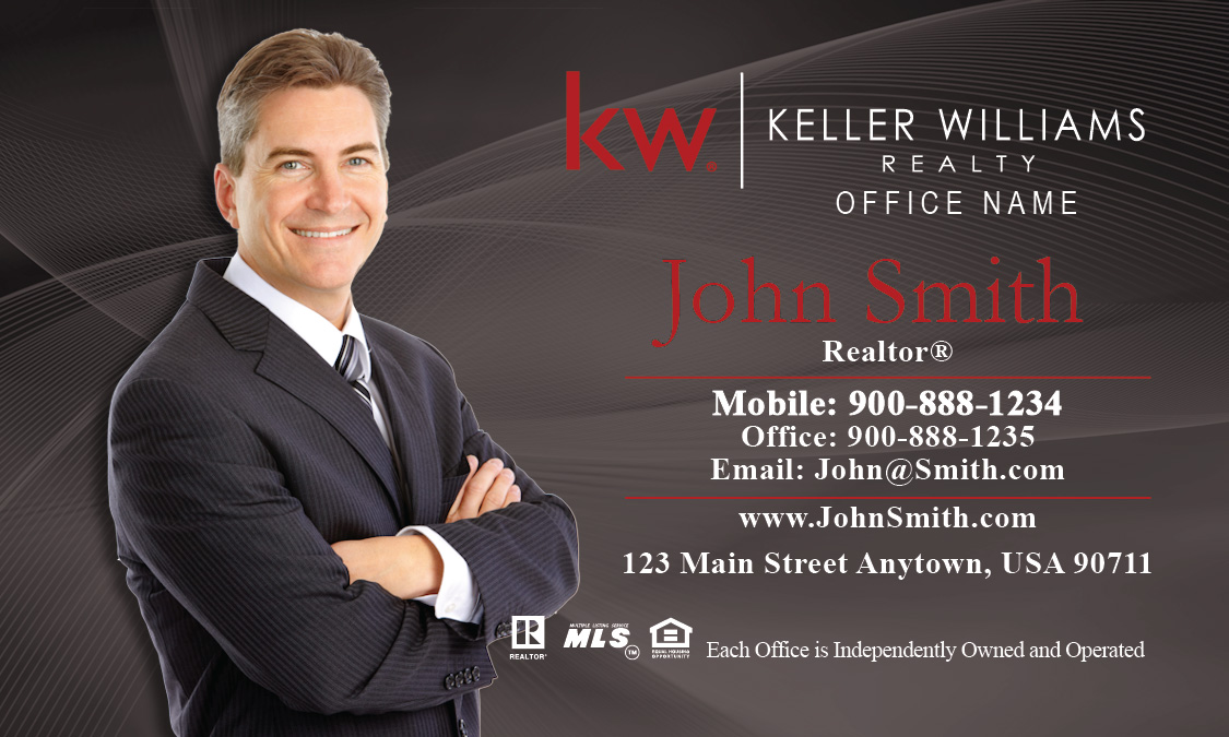 Keller Williams Business Card Gray Design