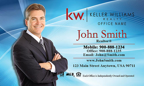 Keller Williams Business Card Blue - Design #103022