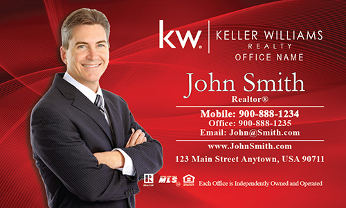 Keller Williams Business Card Red - Design #103023
