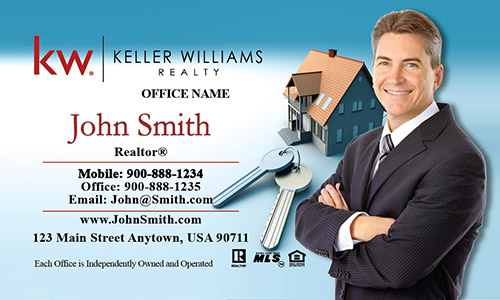 Keller Williams Business Card House and Key - Design #103031
