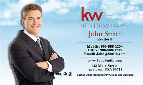 Keller Williams Business Card Blue Sky - Design #103051