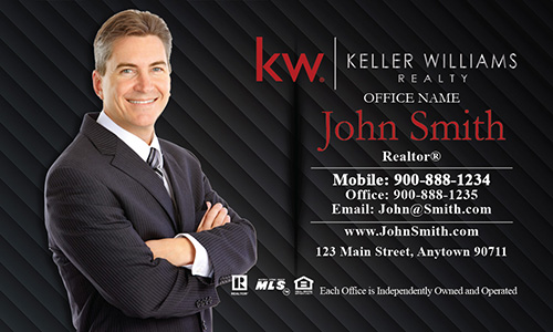 KW Broker Associate Black Business Card - Design #103062