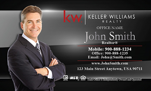 Metallic Shine KW Business Card - Design #103081