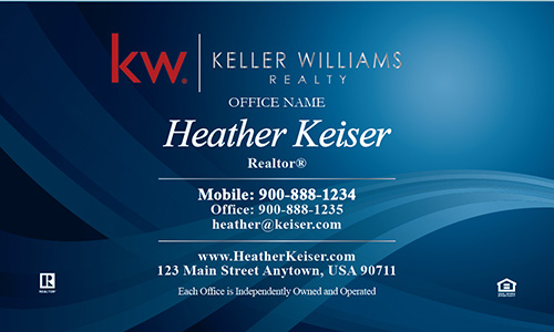Keller Williams Business Card Beautiful Blue - Design #103091