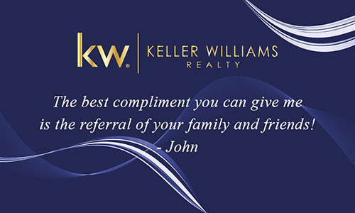 Blue Keller Williams Business Card with Agent Head shot - Design #103123