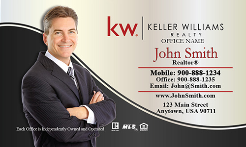 Keller Williams Business Card Professional with Personal Photo - Design #103131