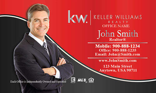 Keller williams realty business card templates online free ship keller williams business card professional red with personal photo design 103133 colourmoves