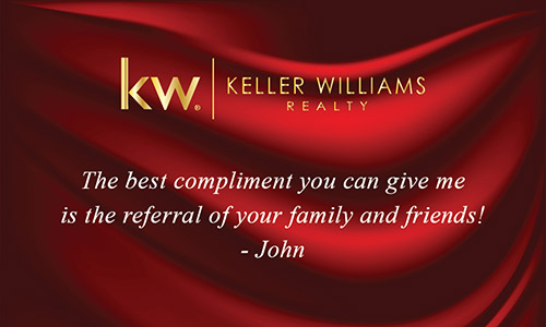 Keller Williams Business Card with Photo Red Silk - Design #103141