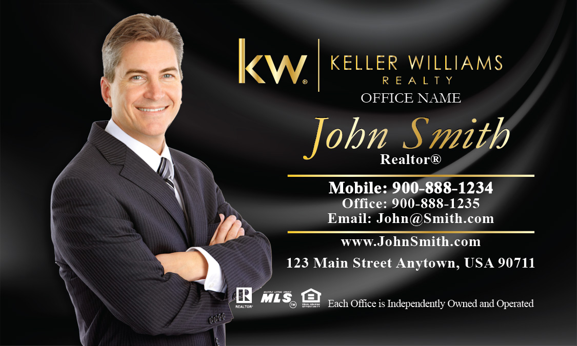 keller williams realty business card templates online