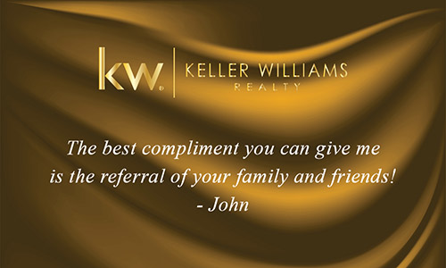 Keller Williams Business Card with Photo Gold Silk  - Design #103144