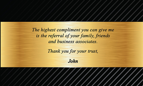 Keller Williams Business Card Luxury Gold Label - Design #103151