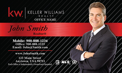 Keller Williams Business Card Black and Red - Design #103153