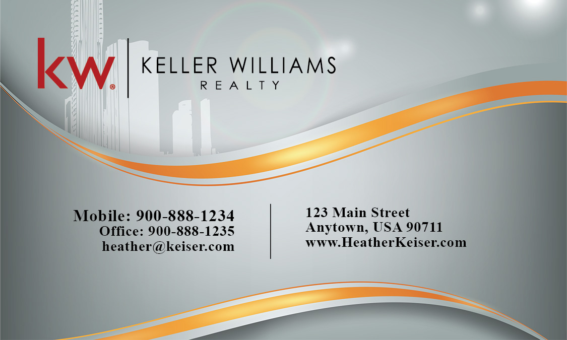 Keller Williams Real Estate Broker Business card Design