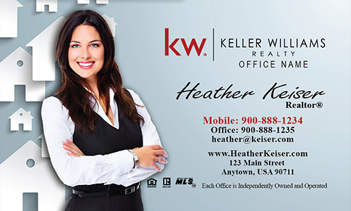 Blue KW Mortgage Specialist Business Card - Design #103171