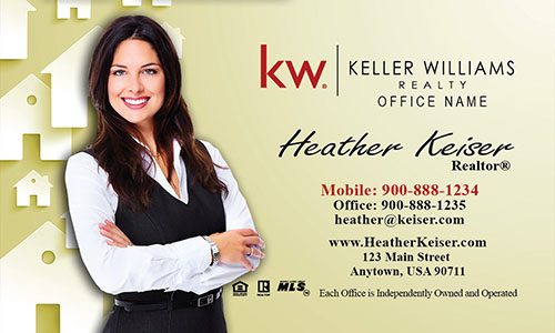 Yellow KW Mortgage Specialist Business Card - Design #103173