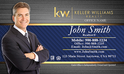 Keller Williams Business Card with Agent Photo - Design #103183