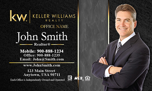 Keller Williams Business Card Modern Black and Gray  - Design #103193