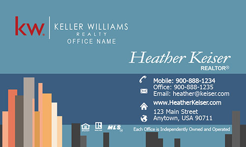 Keller Williams Real Estate Business Card City View - Design #103201