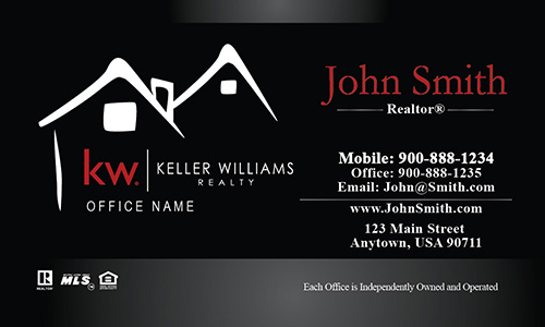 Keller Williams Business Card Custom Black - Design #103211