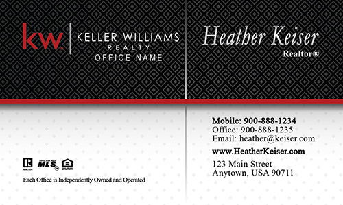 Classic Keller Williams Realty Business Card - Design #103231