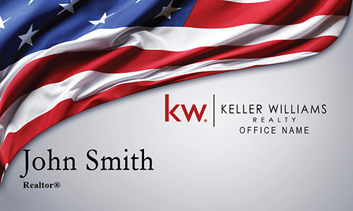 Keller Williams Business Card American Flag - Design #103261