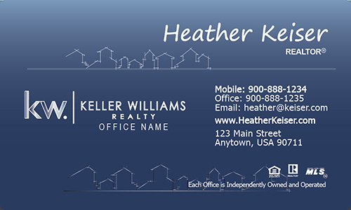 Keller Williams Realty Business Card Gradient Abstract House - Design #103271