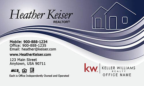 Keller Williams Realtor Business Card with Abstract House - Design #103281