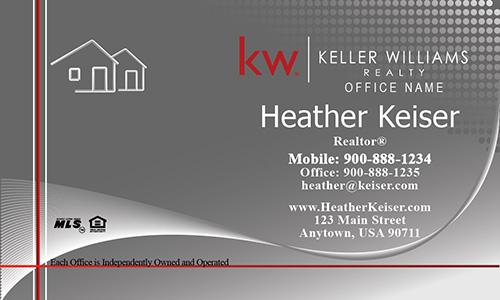 Silver Keller Williams Business Card - Design #103301
