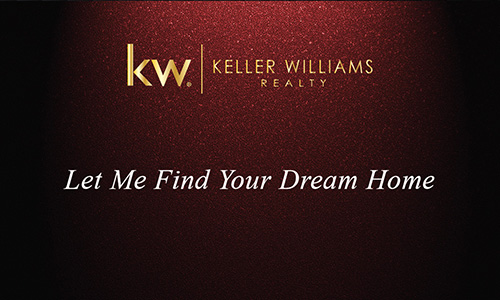 Gold Keller Williams Logo Red Realtor Business Card - Design #103311
