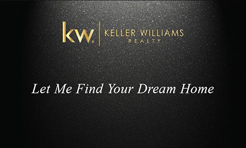 New Gold KW Logo Black Realtor Business Card - Design #103312